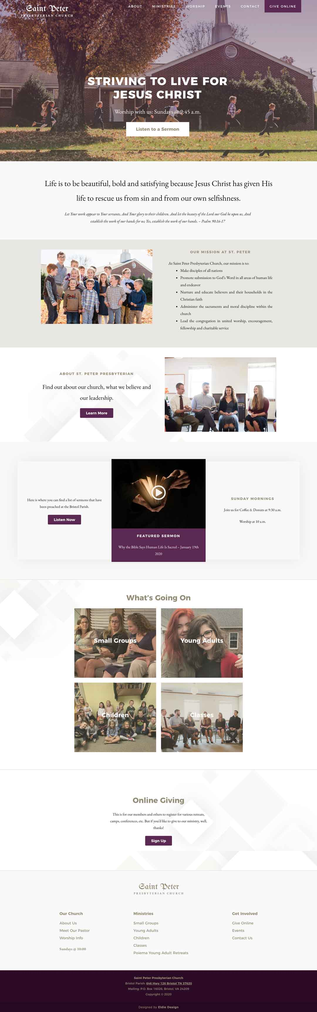 Presbyterian Church Website Design